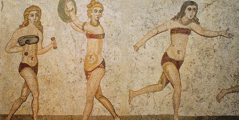 mosaico bikini girls - piazza armerina - le bastart